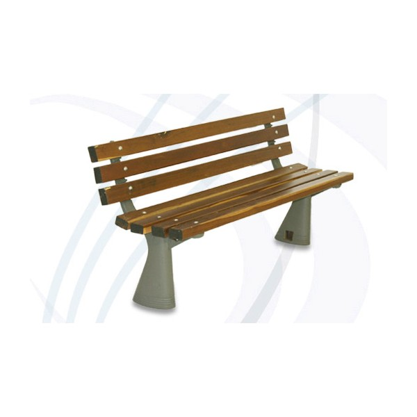 M 50 banca en madera galeriaimg for Bancas para jardin de herreria